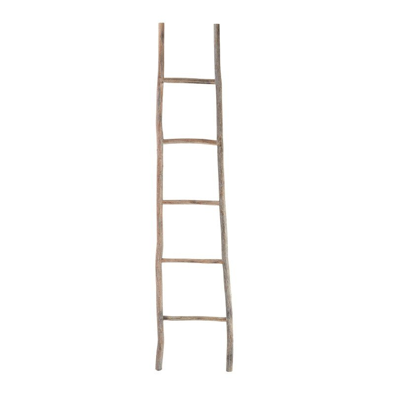 Dimond Home Wood White Washed Ladder - Large (594039)