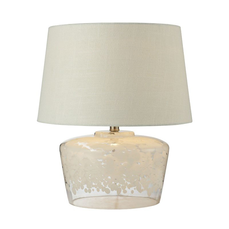 "Dimond Lighting 18"" Flurry Frit Well Boutique Glass Table Lamp (979004)"
