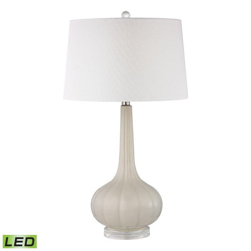 Dimond Lighting Abbey Lane Ceramic LED Table Lamp in Off White (D2458-LED)