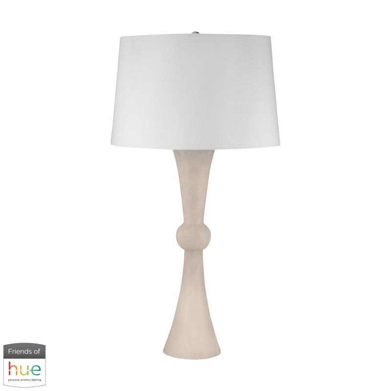 Dimond Lighting Alabaster Hour Glass Table Lamp with Philips Hue LED Bulb/Dimmer (100-HUE-D)