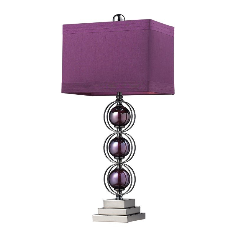 Dimond Lighting Alva Contemporary Table Lamp In Black Nickel And Purple (D2232)