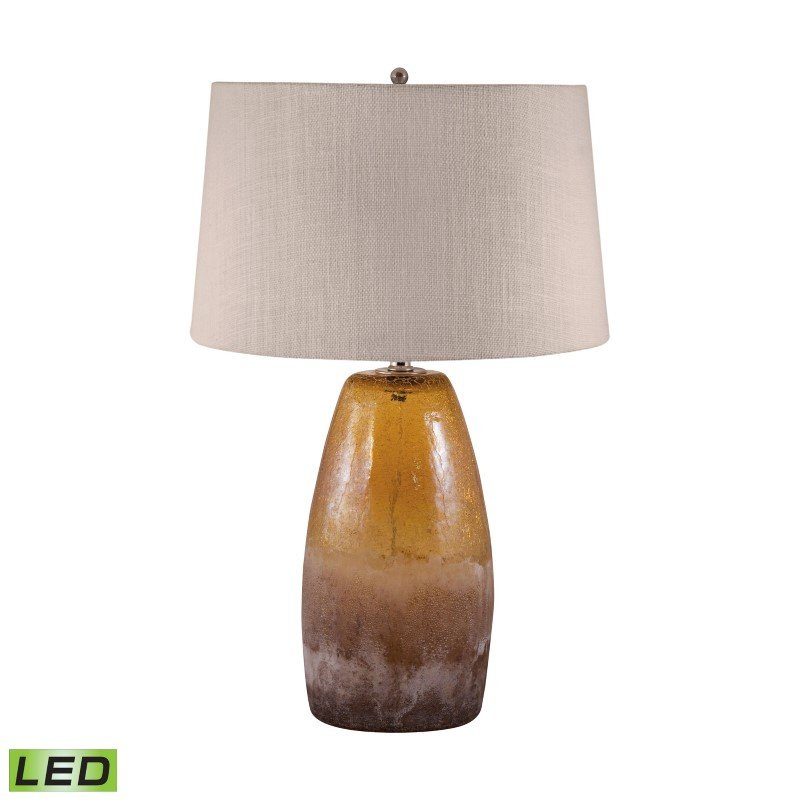 Dimond Lighting Amber Crackle Arctic Glass LED Table Lamp ( 239-LED)