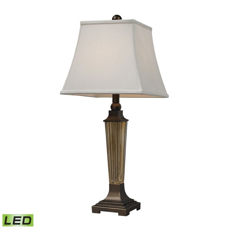 Dimond Lighting Amber Smoked Glass LED Table Lamp With Bronze Accents (D133-LED)