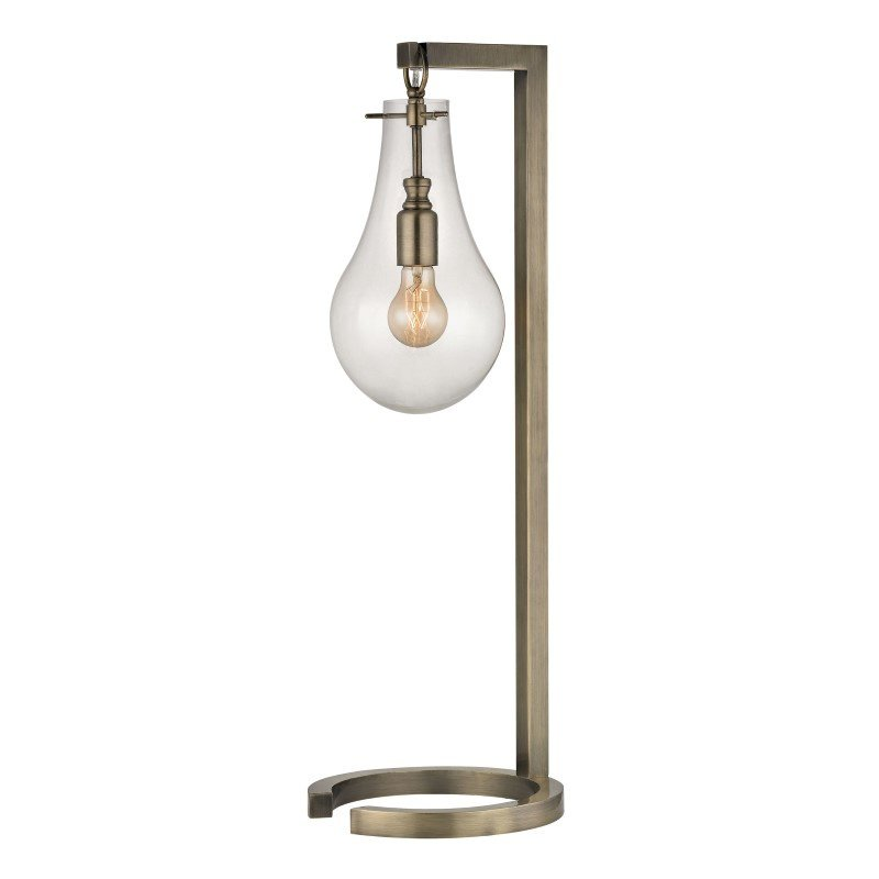 Dimond Lighting Antique Brass Table Lamp With Clear Glass Shade (D330)