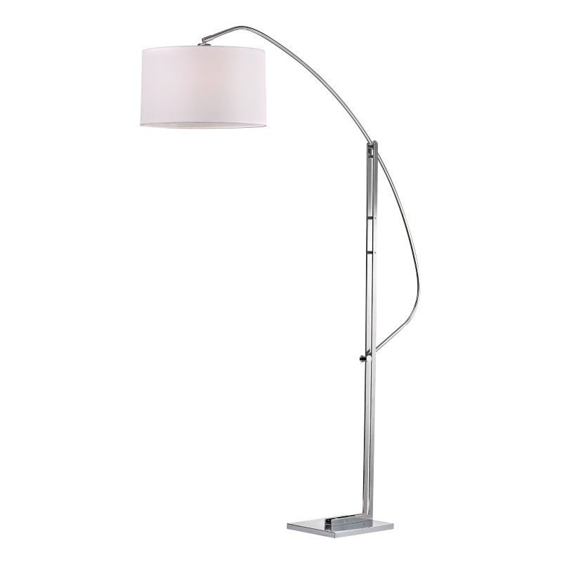 Dimond Lighting Assissi Adjustable Floor Lamp in Polished Nickel (D2471)