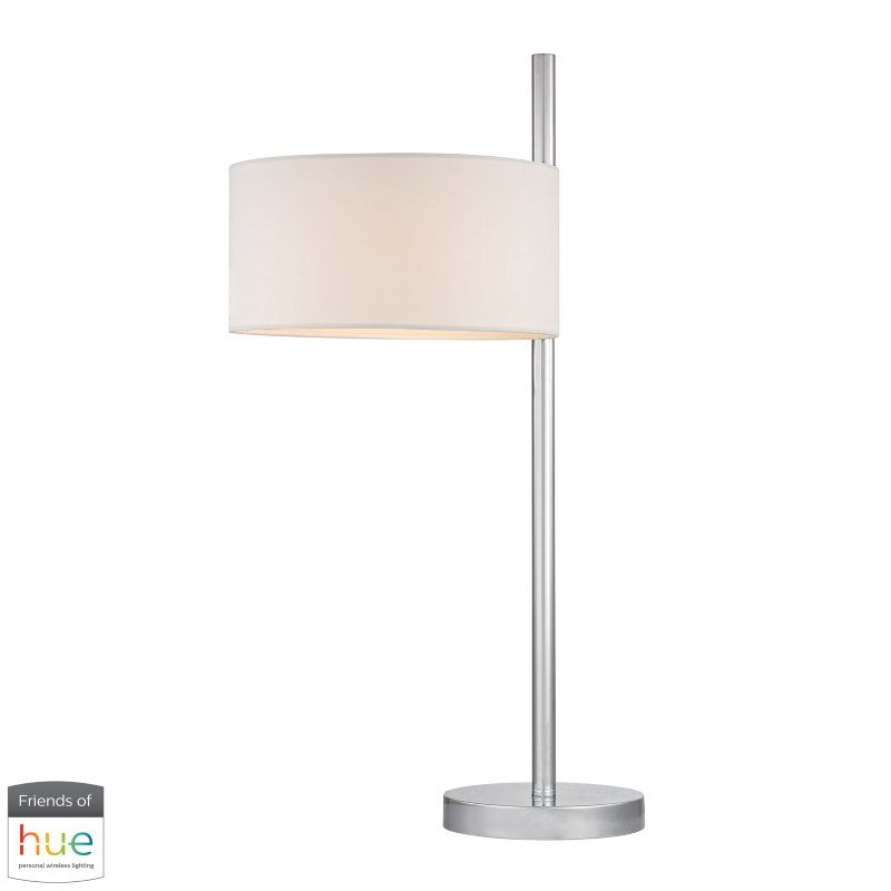 Dimond Lighting Attwood Table Lamp in Polished Nickel with Philips Hue LED Bulb/Bridge (D2472-HUE-B)