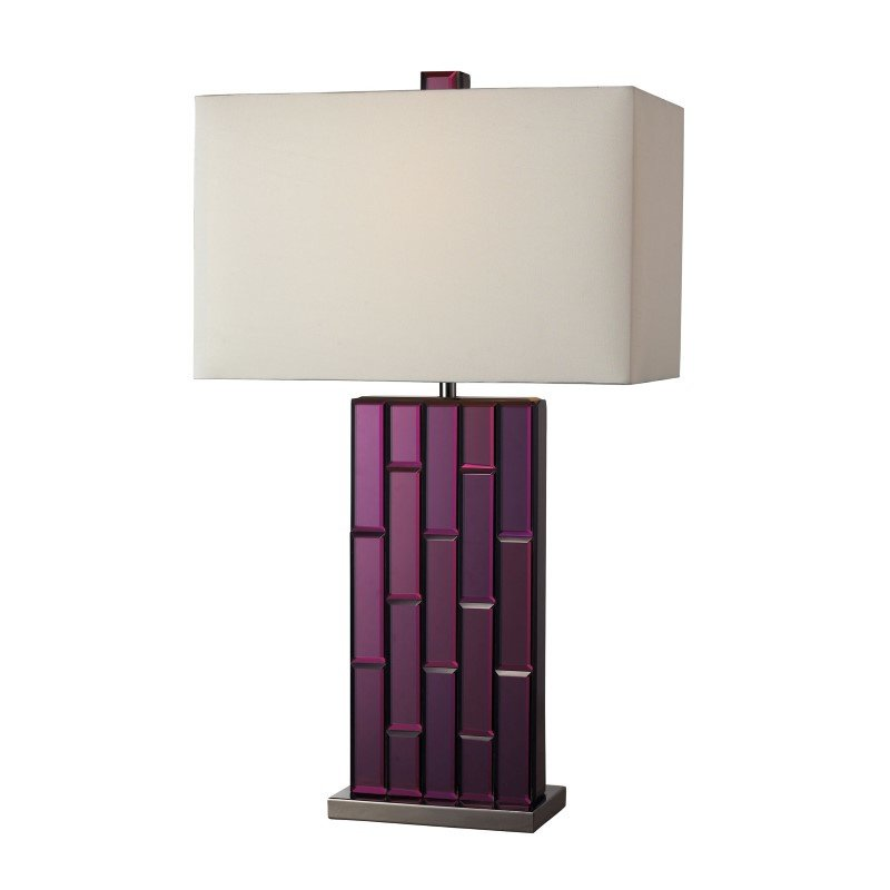 Dimond Lighting Avalon Table Lamp In Purple Mirror And Black Nickel (D2162)