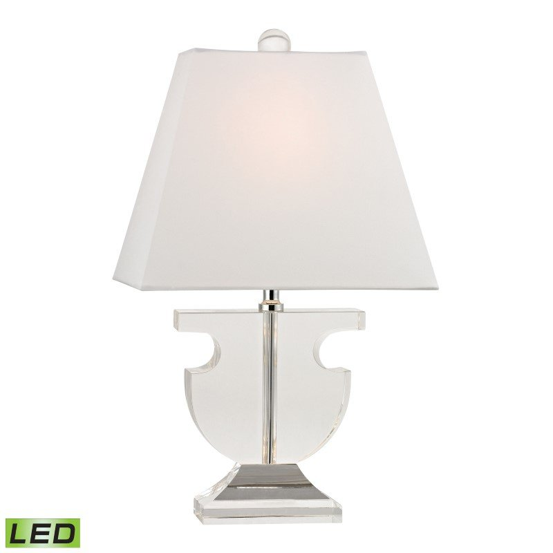 Dimond Lighting Bailey Mews Mini Solid Clear Crystal LED Table Lamp (D2485-LED)