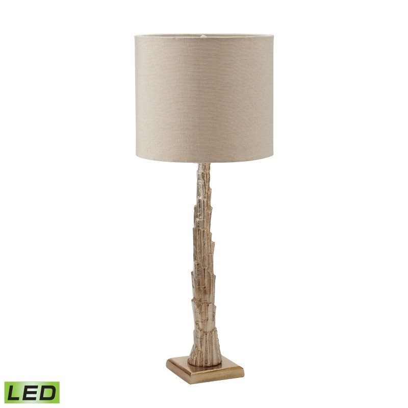 Dimond Lighting Bark LED Table Lamp in Gold And Natural Linen (468-021-LED)