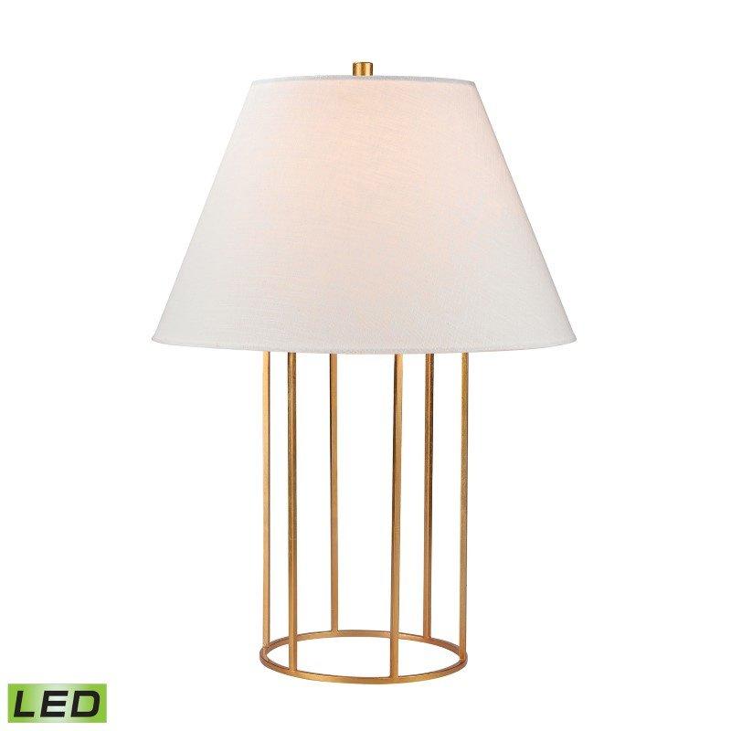 Dimond Lighting Barrel Frame LED Table Lamp in Gold Leaf (D2589-LED)