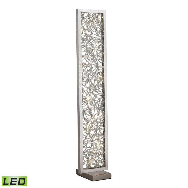 Dimond Lighting Basinger Abstract Metalwork LED Floor Lamp in Silver (D2719)