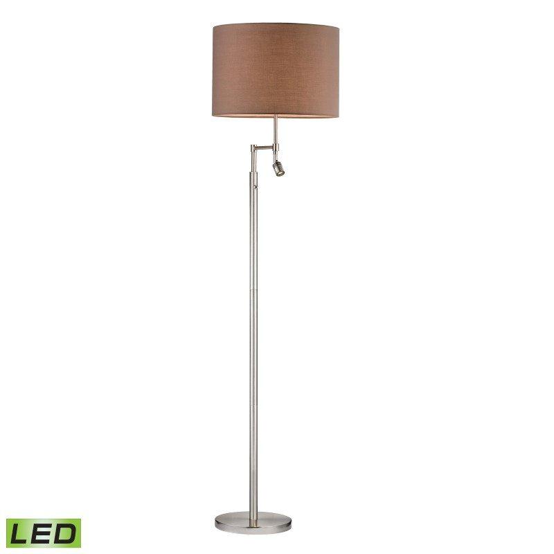 Dimond Lighting Beaufort LED Floor Lamp in Satin Nickel with Adjustable LED Reading Light (D2552-LED)