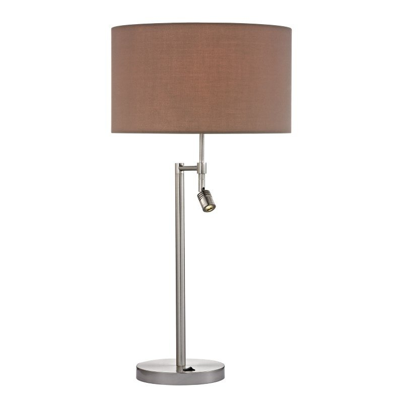 Dimond Lighting Beaufort Table Lamp in Satin Nickel with Adjustable LED Reading Light (D2551)