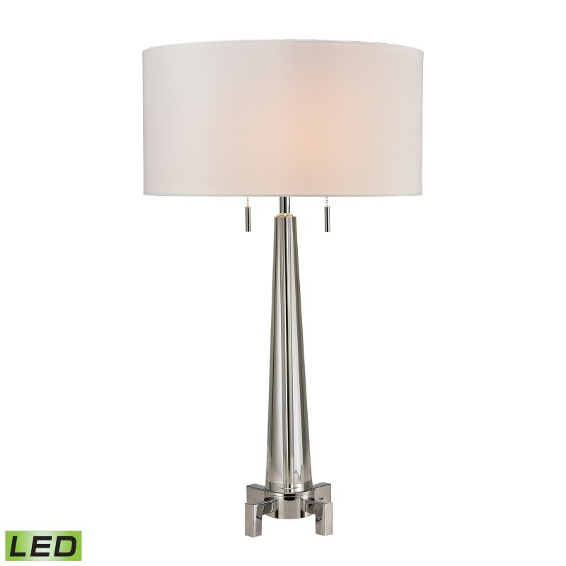 Dimond Lighting Bedford Solid Crystal LED Table Lamp in Polished Chrome (D2681-LED)