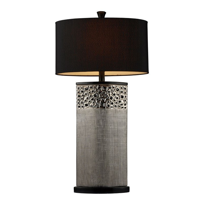 Dimond Lighting Bellevue Table Lamp In Silver Plating With Oval Black Shantung Shade (D1490)