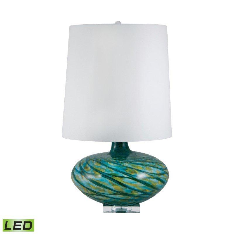 Dimond Lighting Big Bang Blown Glass LED Table Lamp in Blue Swirl ( 312-LED)