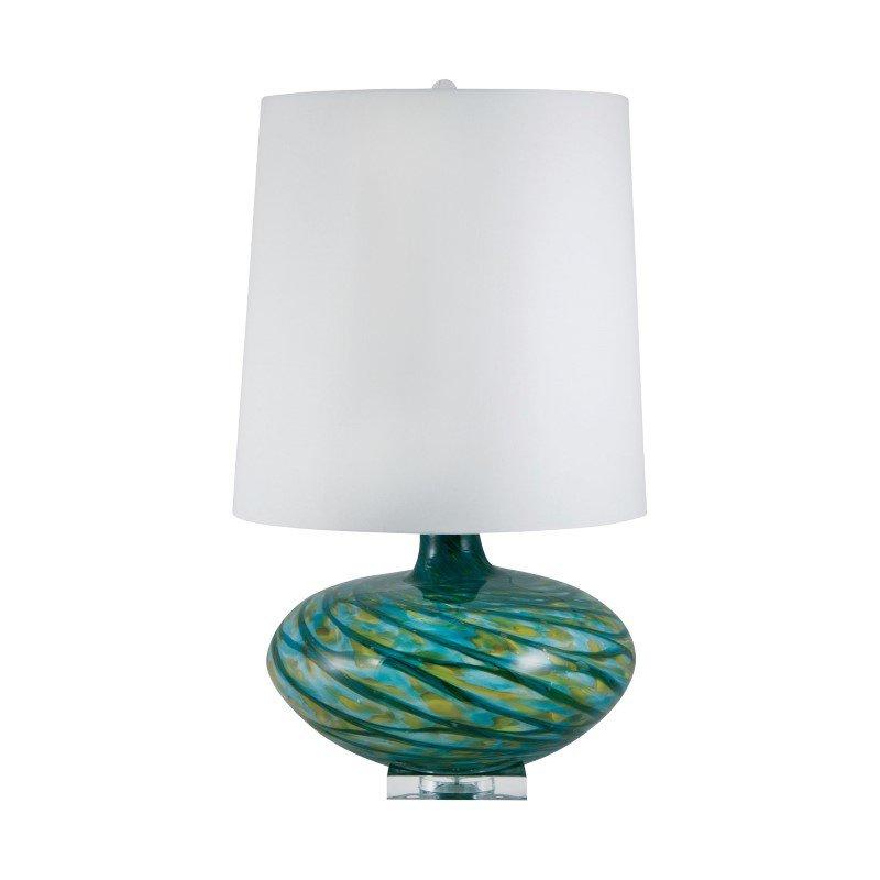 Dimond Lighting Big Bang Blown Glass Table Lamp in Blue Swirl ( 312)