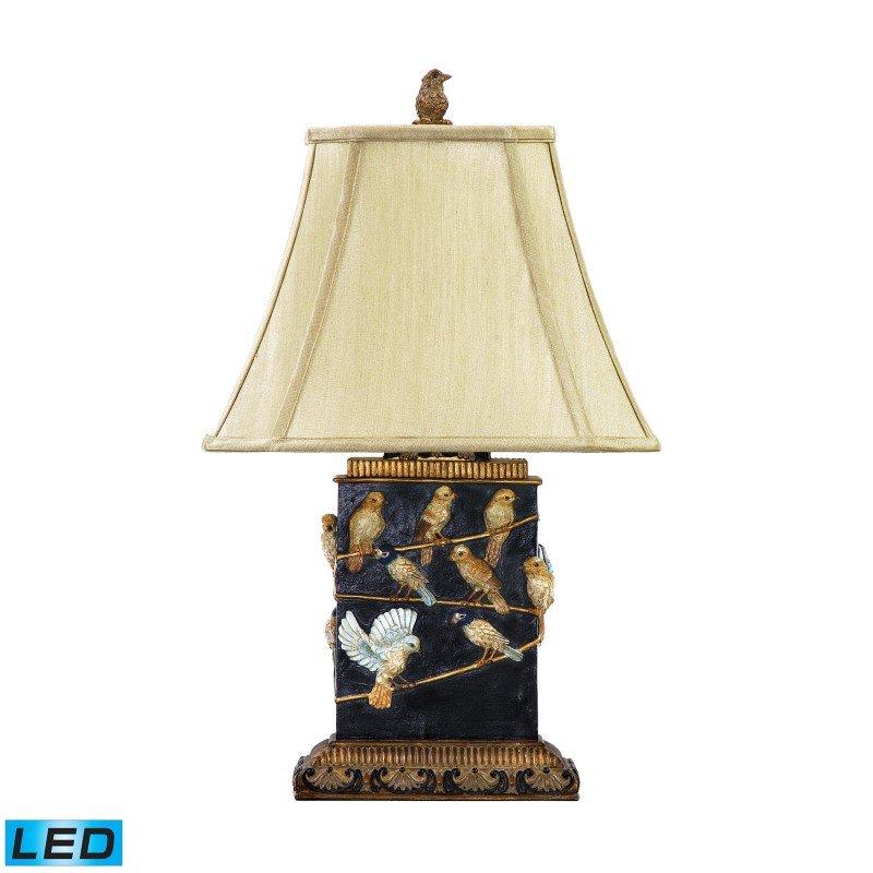 Dimond Lighting Birds On Branch LED Table Lamp in Black (93-530-LED)
