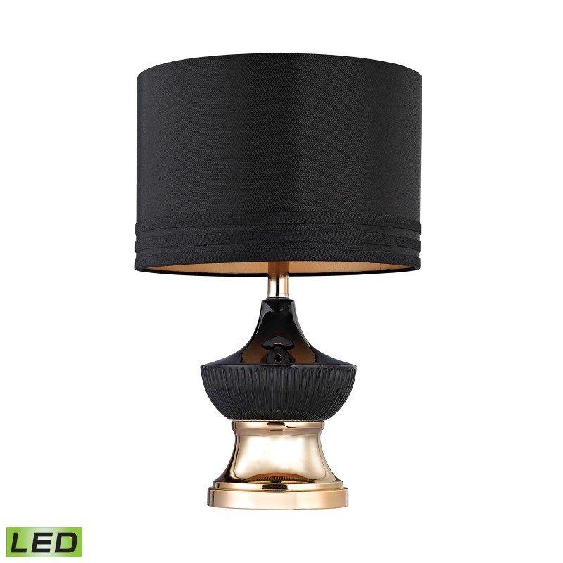 Dimond Lighting Black Ribbed LED Genie Lamp (D2755-LED)