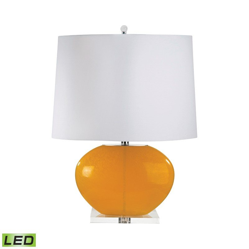 Dimond Lighting Blown Glass Oval LED Table Lamp in Orange ( 319-LED)