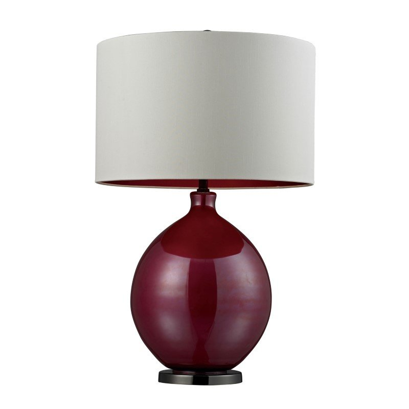 Dimond Lighting Blown Glass Table Lamp in Cerise Pink and Black Nickel (D268)