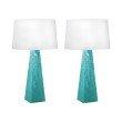 Dimond Lighting Blue-Green Mercury Glass Table Lamps - Set of 2 ( 241/S2)