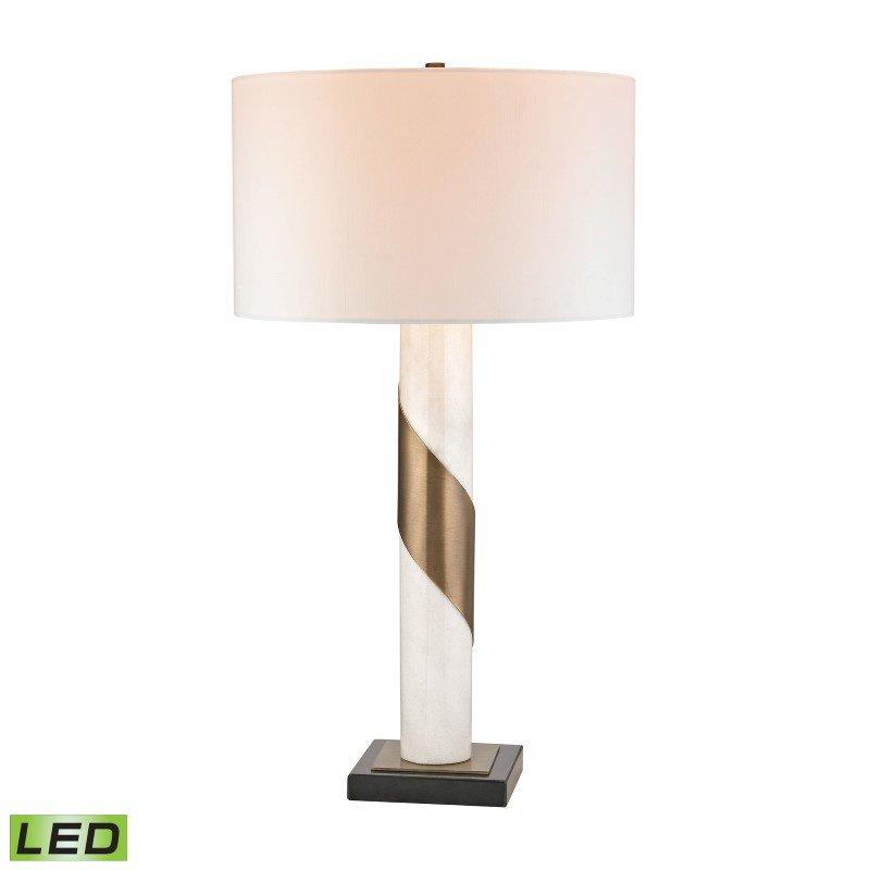 Dimond Lighting Brass Strapped Marble LED Lamp (D2844-LED)