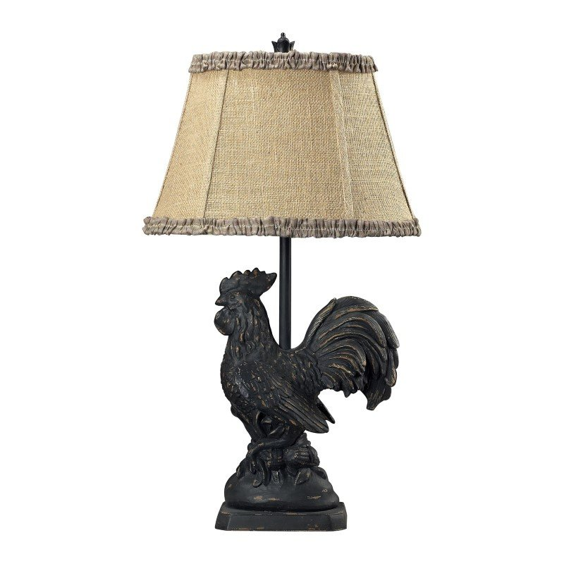 Dimond Lighting Braysford Rooster Table Lamp in Black (93-91391)