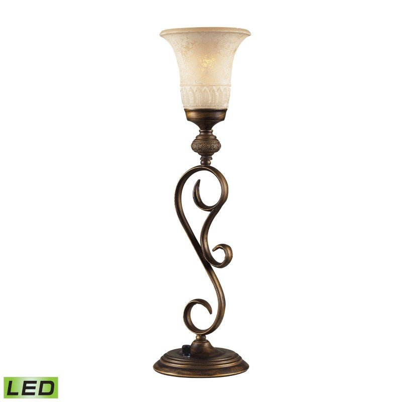 Dimond Lighting Briarcliff 1 Light Table Lamp In Weathered Umber (2474/1-LED)