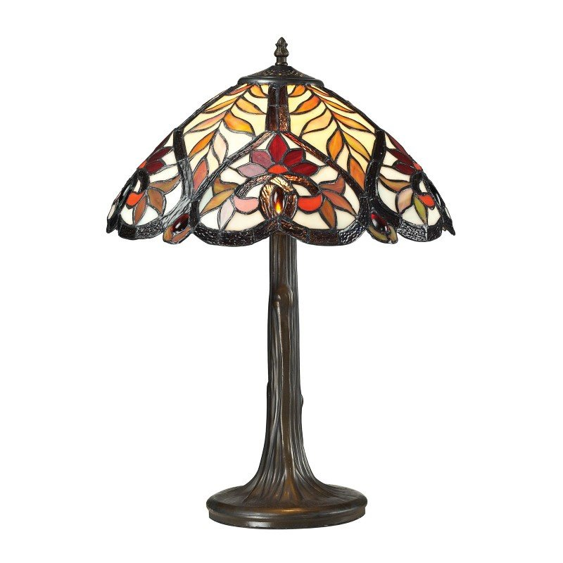 Dimond Lighting Brimford Tiffany Glass Table Lamp in Tiffany Bronze (72080-1)