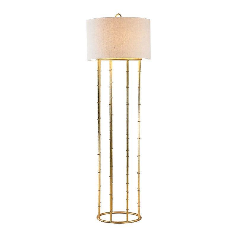 Dimond Lighting Brunei 1 Light Floor Lamp In Gold Leaf (1114-202)