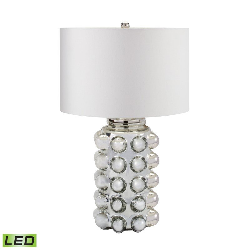 Dimond Lighting Bubble Glass LED Table Lamp in Silver Mercury (983-006-LED)