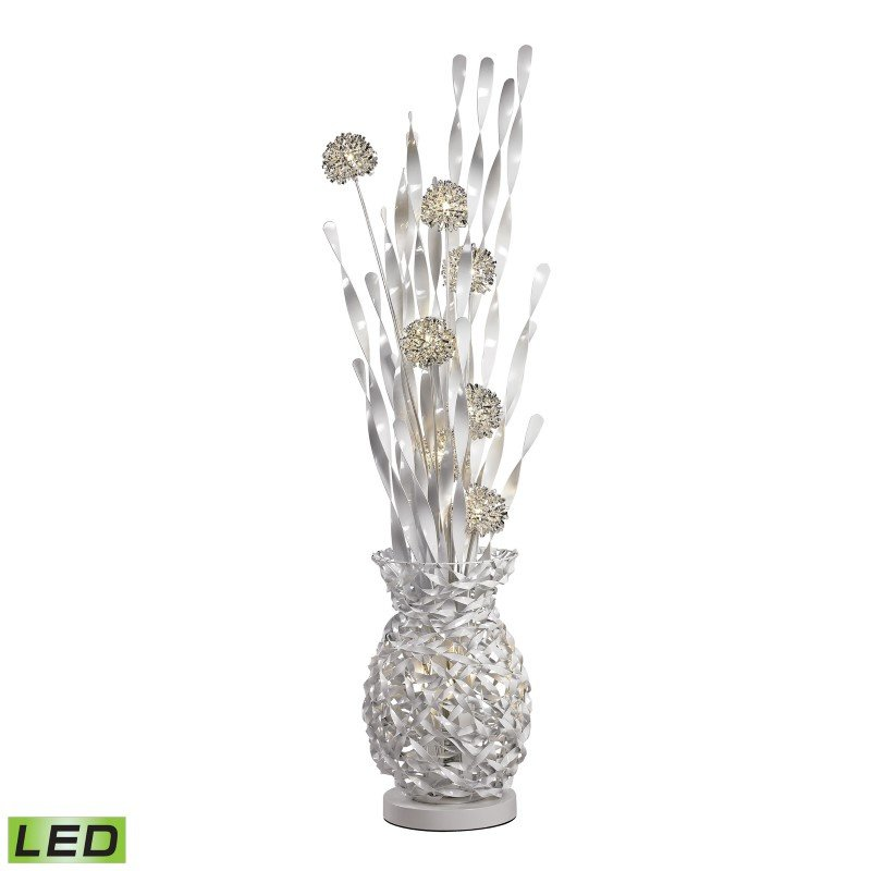 Dimond Lighting Calico Contemporary Floral Display Floor Lamp In Silver Finish (D2721)
