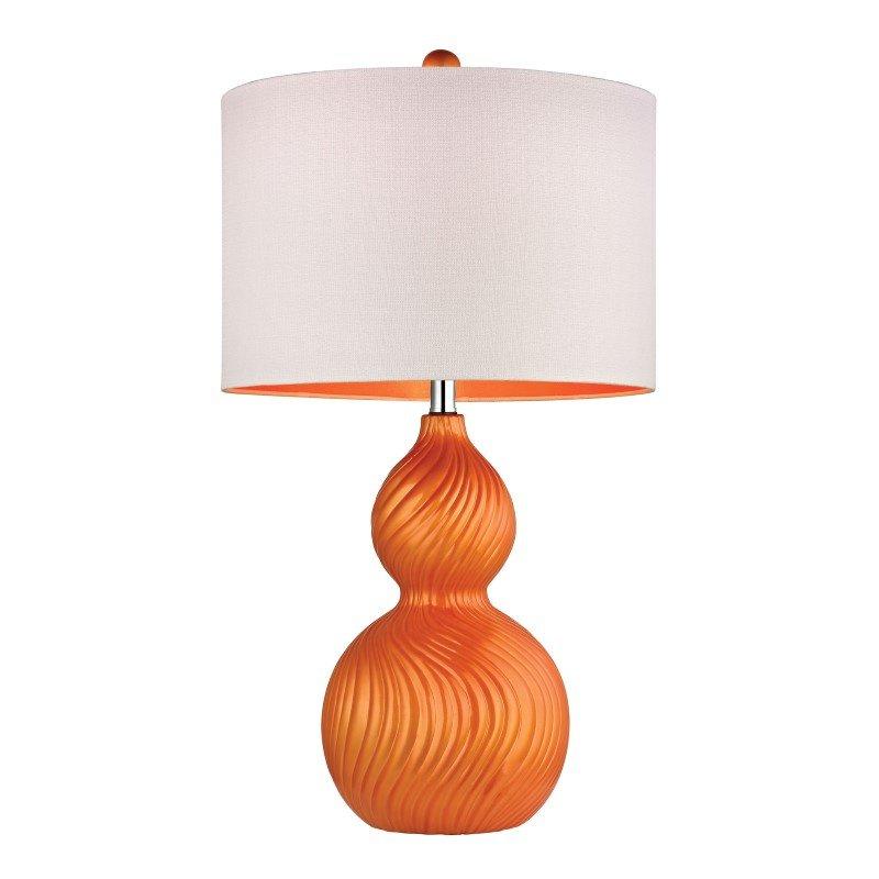 Dimond Lighting Carluke Ceramic Table Lamp in Tangerine Orange (D2506)