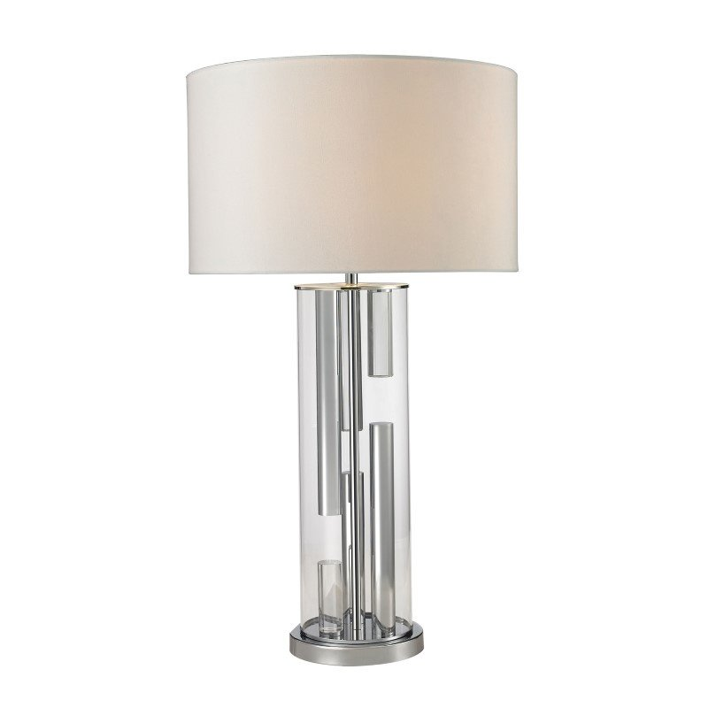 Dimond Lighting Castello Clear Glass Table Lamp in Polished Chrome (D2674)