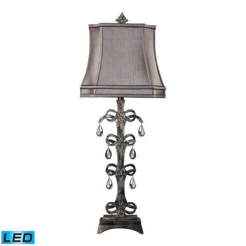 Dimond Lighting Castello Teak Crystal LED Table Lamp in Durand Finish (93-9230-LED)
