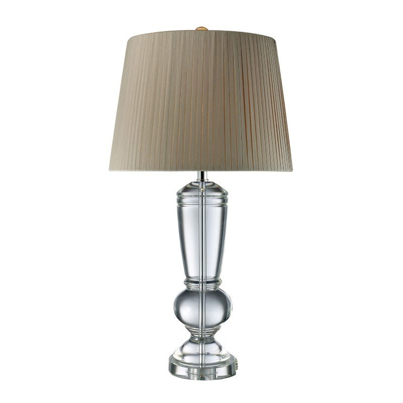 Dimond Lighting Castlebridge Table Lamp In Clear Crystal With Light Grey Shade (D1811)