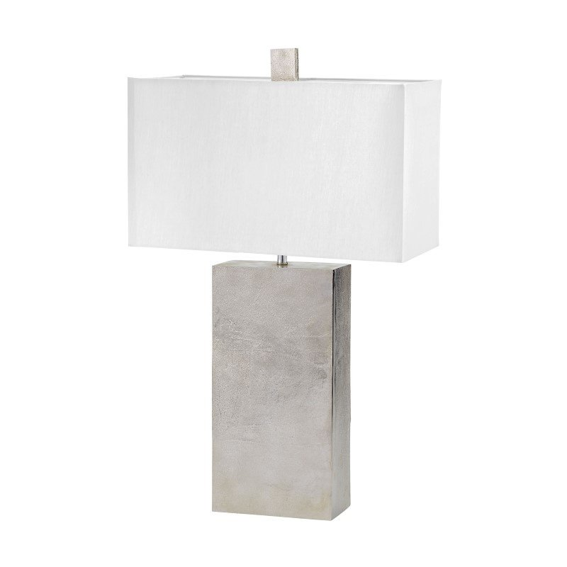 Dimond Lighting Cement Tower Table Lamp in Nickel (178-032)