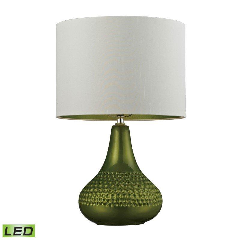 Dimond Lighting Ceramic LED Table Lamp in Bright Green (D266-LED)