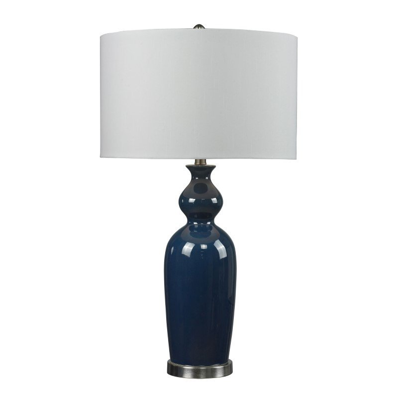 Dimond Lighting Ceramic Table Lamp in Blue With Pure White Shade (D249B)