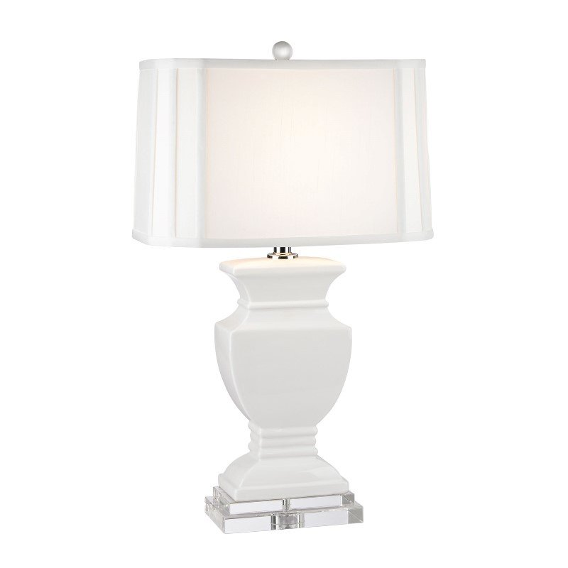 Dimond Lighting Ceramic Table Lamp in Gloss White And Crystal (D2634)