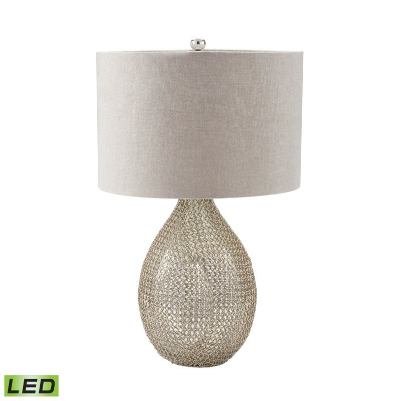 Dimond Lighting Chain Mail Raindrop LED Table Lamp in Silver Mercury (983-007-LED)