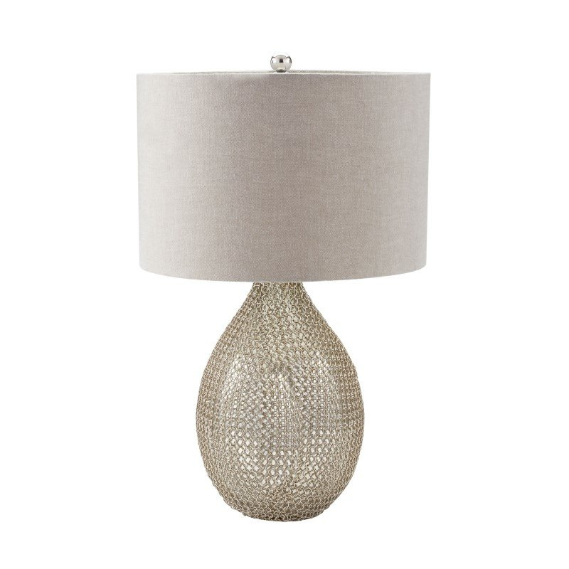 Dimond Lighting Chain Mail Raindrop Table Lamp in Silver Mercury (983-007)