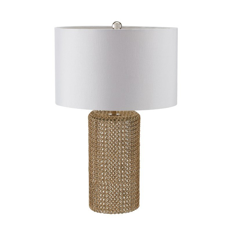 Dimond Lighting Chain Mail Raindrop Table Lamp in Silver Mercury and Gold (983-008)