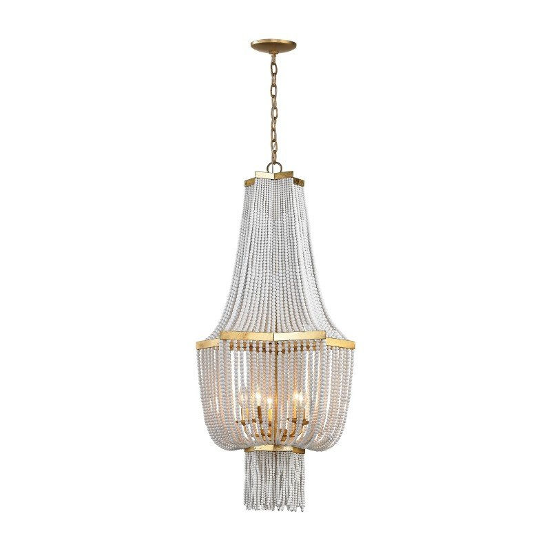 Dimond Lighting Chaumont 5 Light Chandelier In Antique Gold Leaf (1142-008)