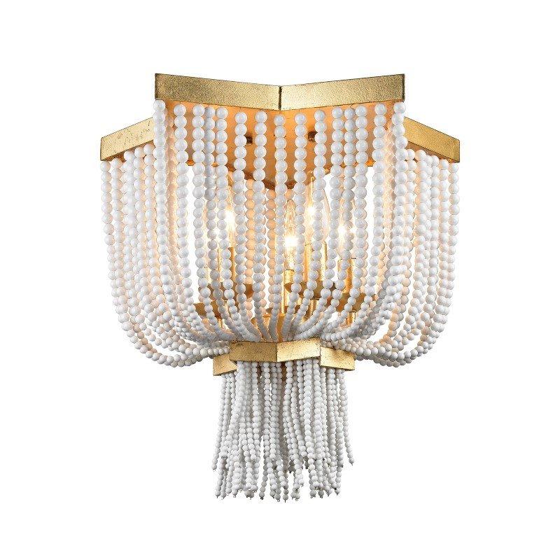 Dimond Lighting Chaumont 5 Light Flush Mount In Antique Gold Leaf (1142-009)