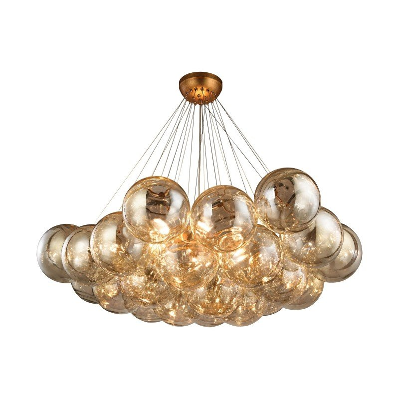 Dimond Lighting Cielo 6 Light Chandelier In Antique Gold Leaf (1140-011)