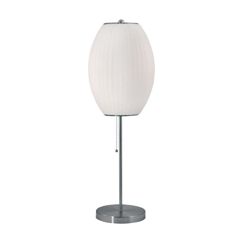 Dimond Lighting Cigar Table Lamp in Satin Nickel And White ( 400)
