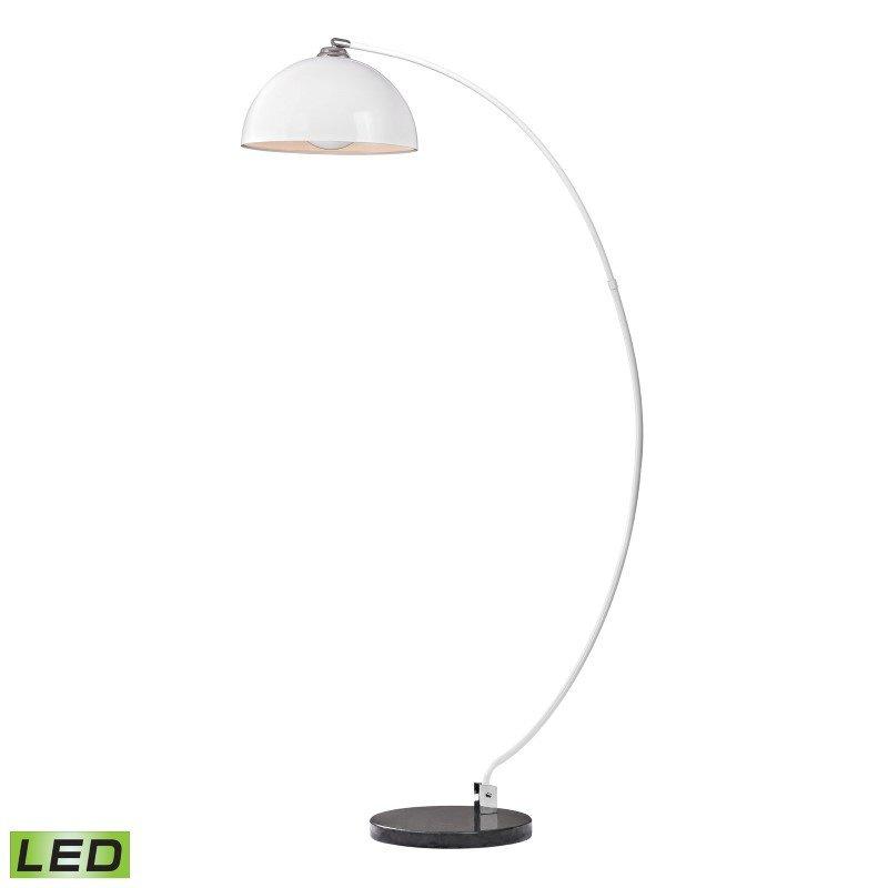 Dimond Lighting Cityscape Adjustable LED Floor Lamp in White And Black (D2462-LED)