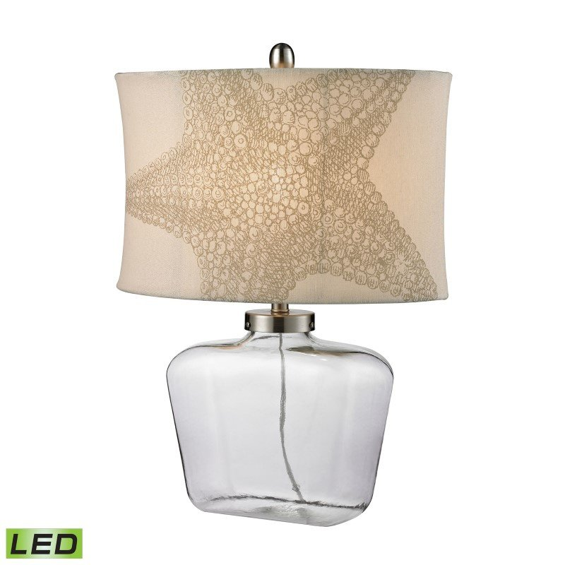 Dimond Lighting Clear Glass Bottle LED Table Lamp in Polished Nickel (D2617-LED)